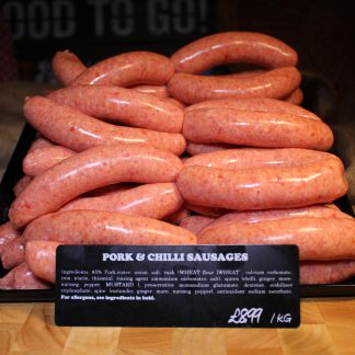 picture of pork and chilli sausages