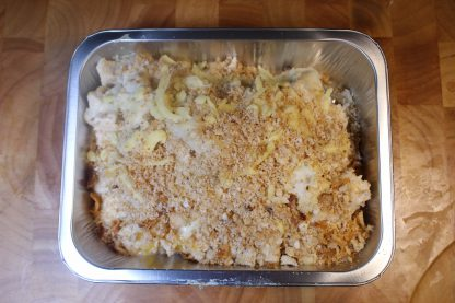 picture of chicken and peach pasta bake